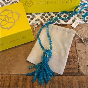 NWT Kendra Scott Sylvia Necklace in Teal Agate